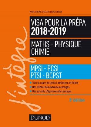 Visa pour la prépa 201862019- Maths-Physique-Chimie - dunod - 9782100779659 -