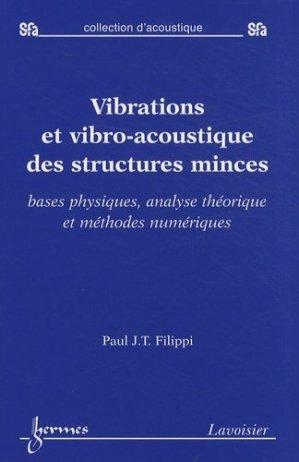 Vibrations et vibro-acoustique des structures minces - Hermes Science Publications - 9782746219373 -