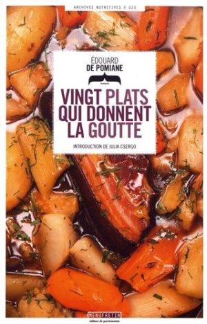 Vingt plats qui donnent la goutte - Menu Fretin - 9791096339419 -