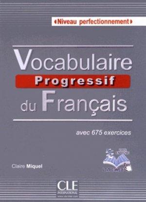 Vocabulaire progressif du français Niveau perfectionnement - Nathan - 9782090381542 -