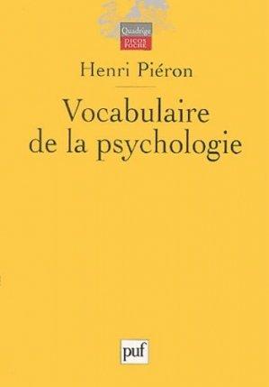 Vocabulaire de la psychologie - puf - presses universitaires de france - 9782130540656 -