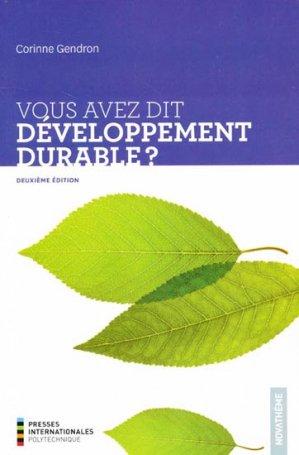 Vous avez dit développement durable? - presses internationales polytechniques - 9782553016233 -