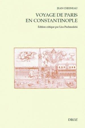 Voyage de Paris en Constantinople - droz - 9782600059848 -