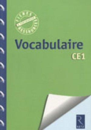 Vocabulaire CE1 - Retz - 9782725629896 -