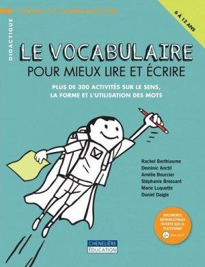 Vocabulaire pour mieux lire et ecrire - cheneliere education (canada) - 9782765078258 -