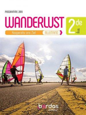Allemand 2de A2-B1 Wanderlust - Bordas - 9782047336380 -