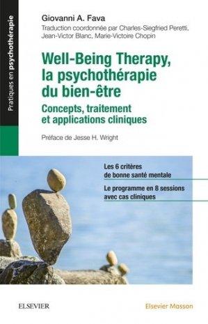 Well-Being Therapy - La psychothérapie du bien-être - elsevier / masson - 9782294760501 -