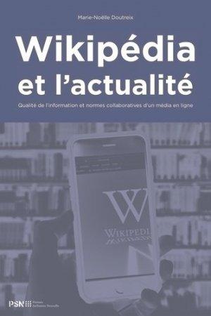 Wikipédia et l'actualité - publications de la sorbonne - 9782379060540 -