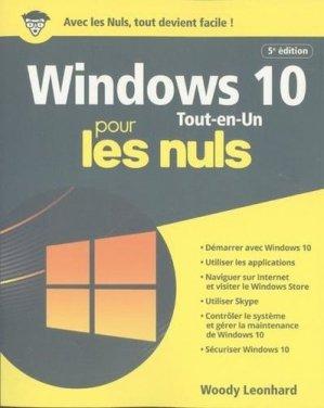 Windows 10 tout en 1 pour les nuls - First - 9782412050682 -