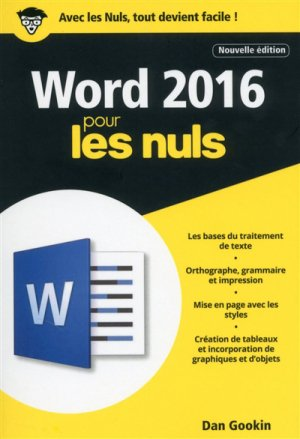 Word 2016 pour les Nuls poche - first - 9782412025888 -