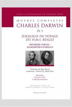 Zoologie du voyage du H.M.S Beagle - slatkine - 9782051026109 -