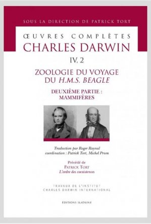 Zoologie du voyage du H.M.S Beagle - slatkine - 9782051026840 -