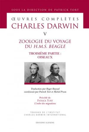 Zoologie du voyage du H.M.S Beagle - slatkine - 9782051027502 -