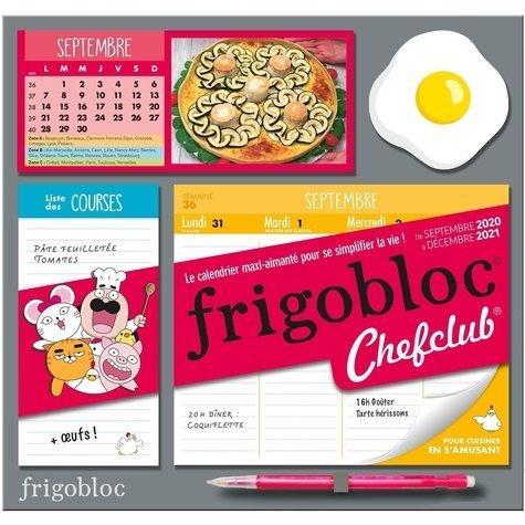 Frigobloc Chefclub. Le calendrier maxi aimanté pour se simplifier