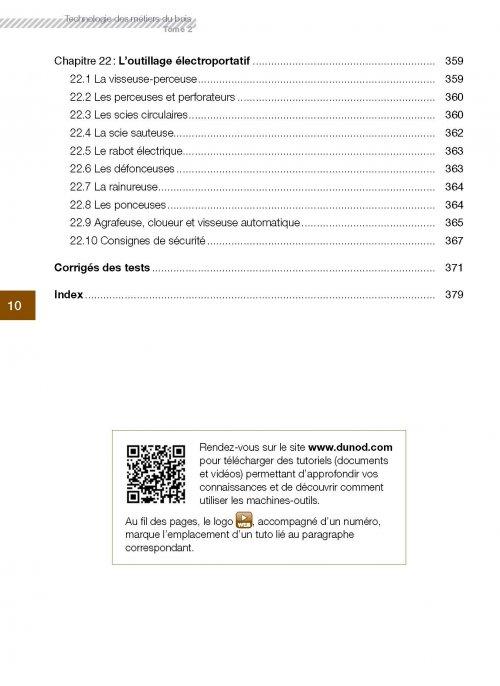 Technologie des métiers du bois Tome 2 Olivier HAMON, Vincent ROULLAT 9782100746583 Dunod  # Metier Du Bois Liste