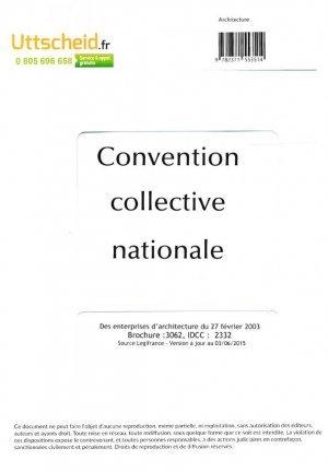 Convention collective nationale architecte 2016 grille for Code naf architecte