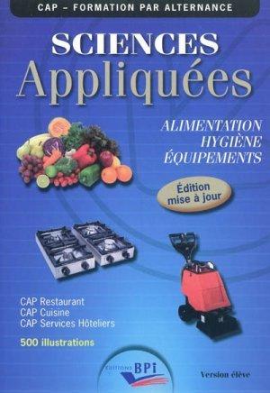 Sciences appliqu es cap eleve maj 2011 jf augez for Sciences appliquees cap cuisine