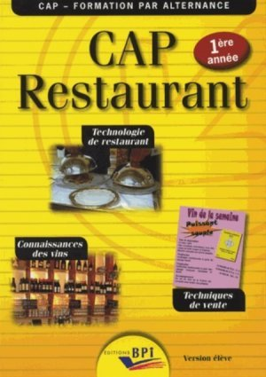 Cap restaurant 1 re ann e version l ve jf augez sartra for Referentiel cap cuisine