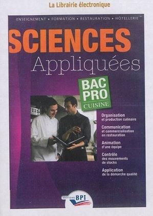 Cd sciences appliqu es bac pro cuisine rougier mairey - Programme bac pro cuisine ...