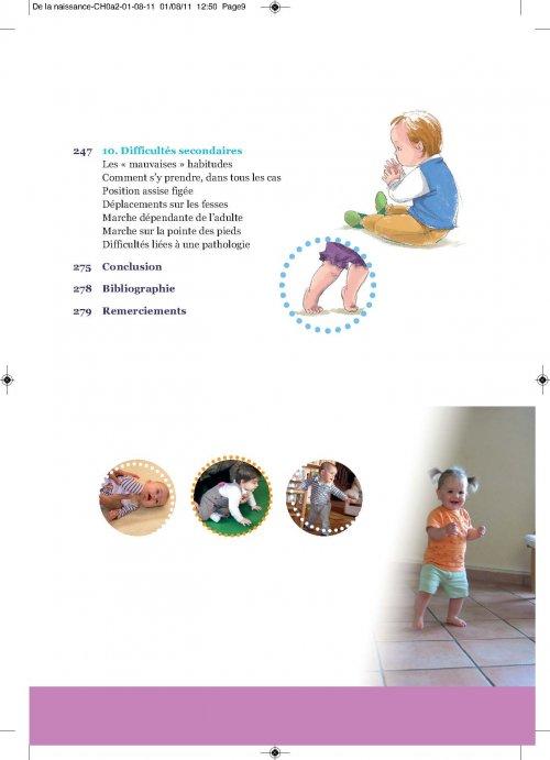 de la naissance aux premiers pas  michele forestier  9782749214504 eres  petite enfance et