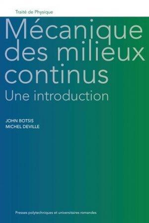 Mécanique des milieux continus: une introduction John BOTSIS