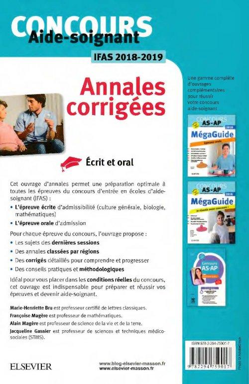 concours aide-soignant - annales corrig u00e9es