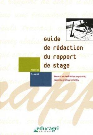 Guide De Rédaction Du Rapport De Stage Brevets De Technicien Supérieur Licences Professionnelles