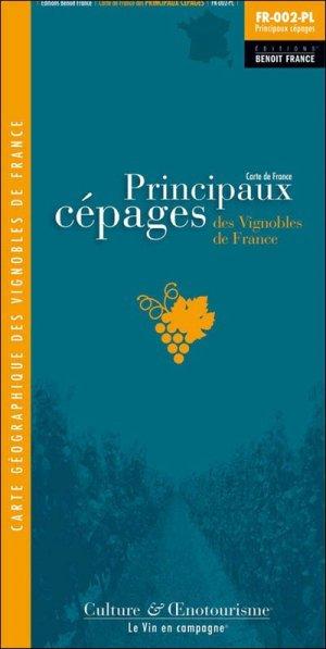 Carte des Principaux Cépages des Vignobles de France CARTE PLIEE